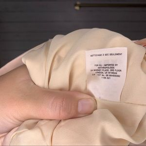 Anthropologie Jackets & Coats - Anthropologie Cartonnier Miette Light Peach Blazer